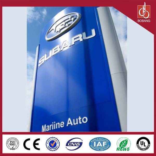 Professional maufacture outdoor 4S store hotsale standing strong anti-wind huge car bord
