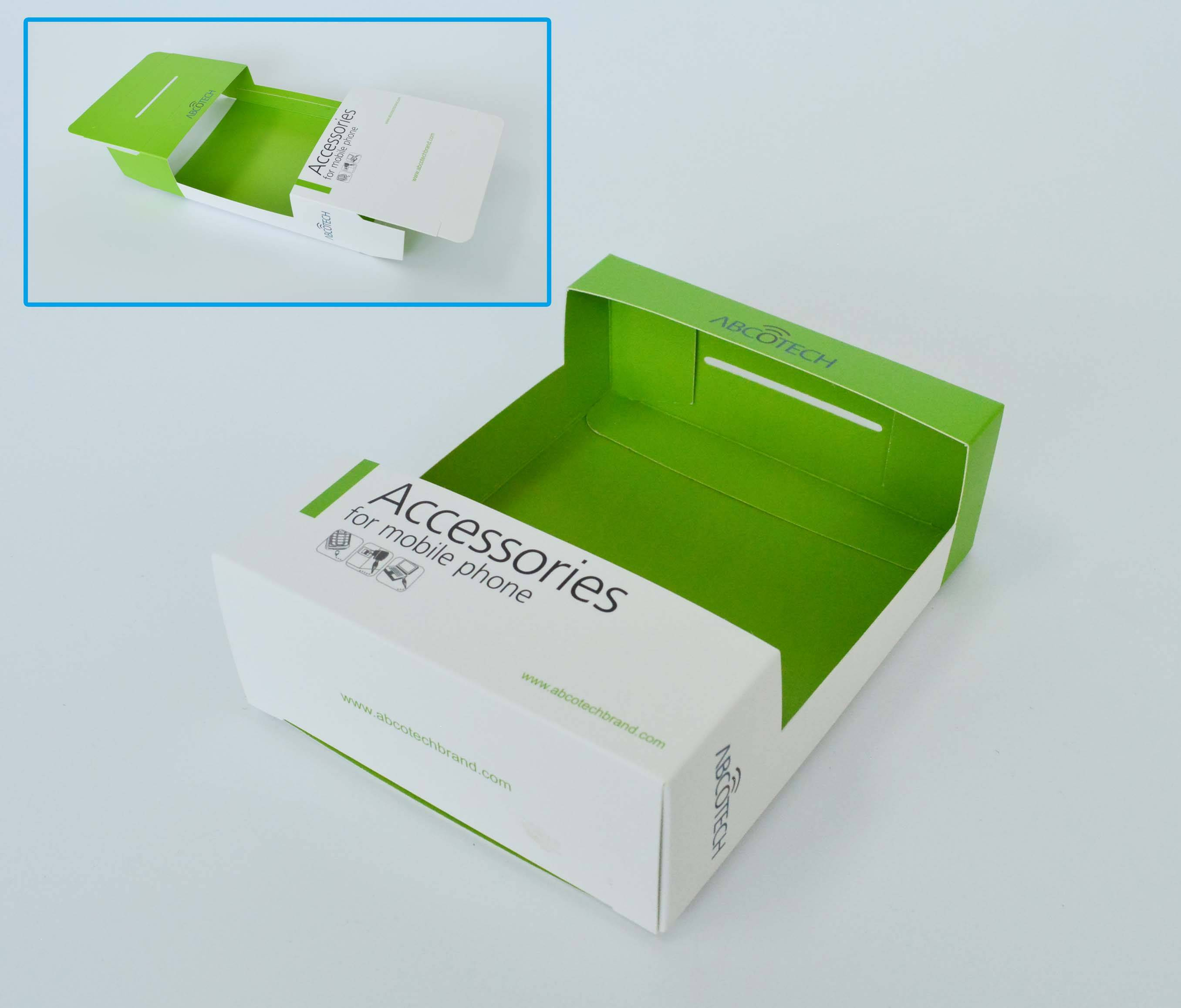 Customed paper box with plastic window packaging box plastic window