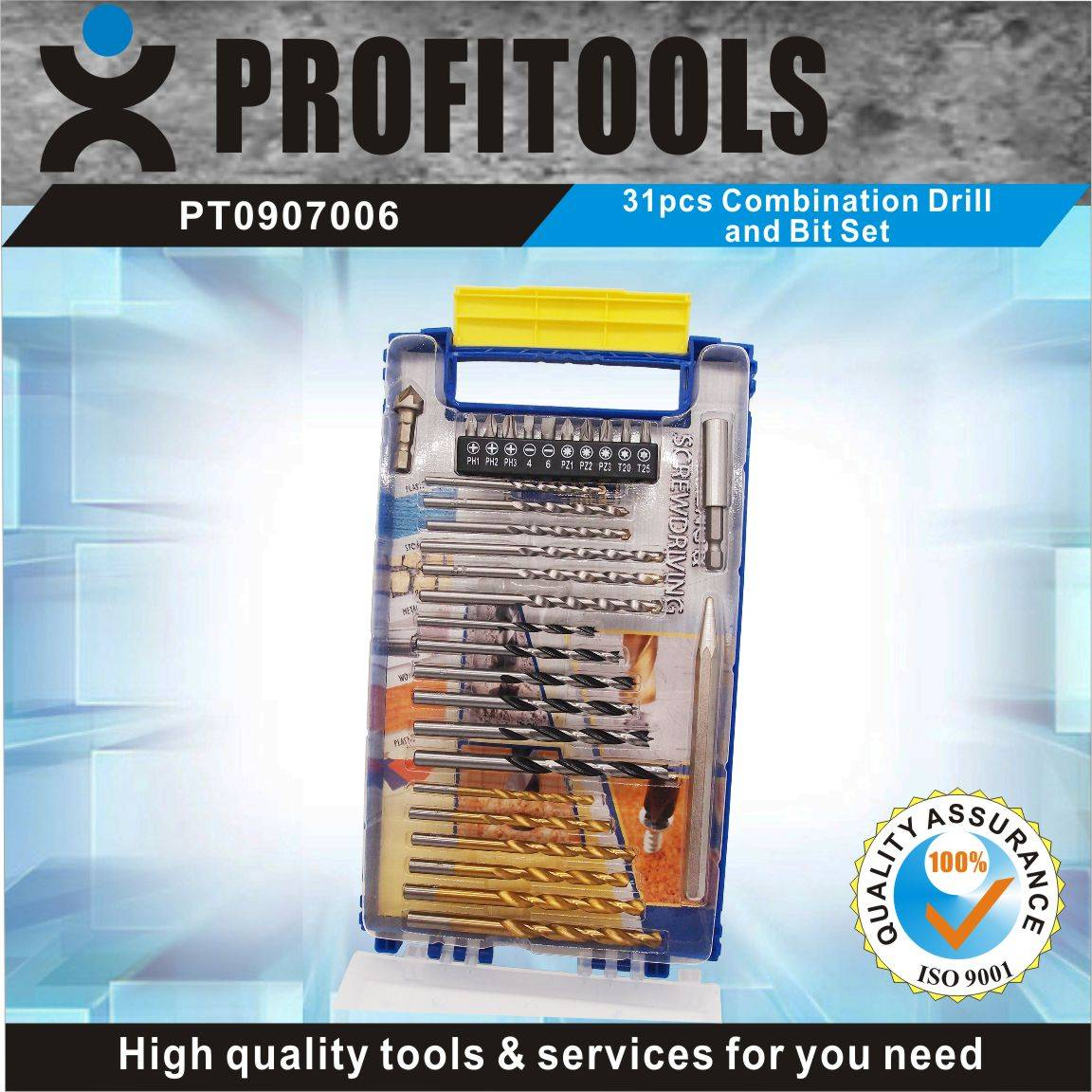 31pcs Combination Drill and Bit Set