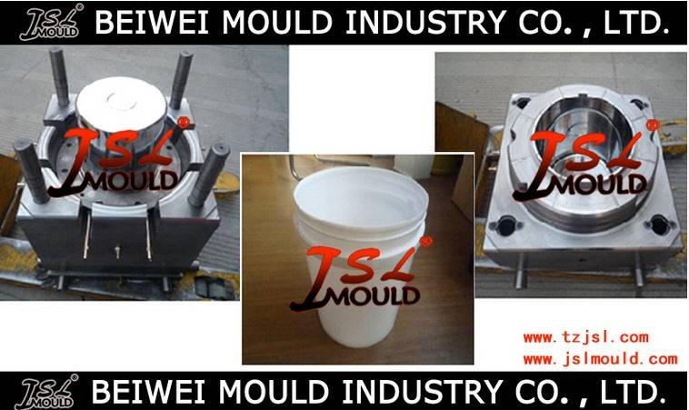 Injection plastic paint bucket mould