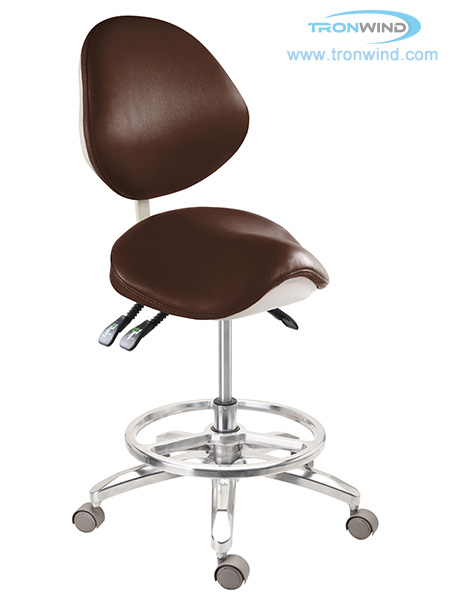 Saddle Chair with Foot Ring TS05, Saddle Stool, Dental Stool Foot Ring, Foot Ring Saddle