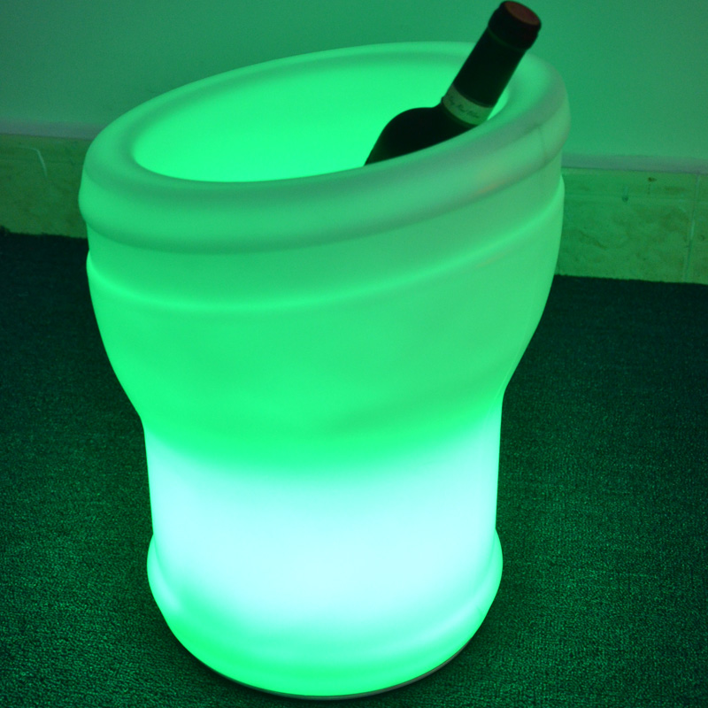 Fashion Ice Bucket Multi Color Change Large LED Plastic Ice Bucket