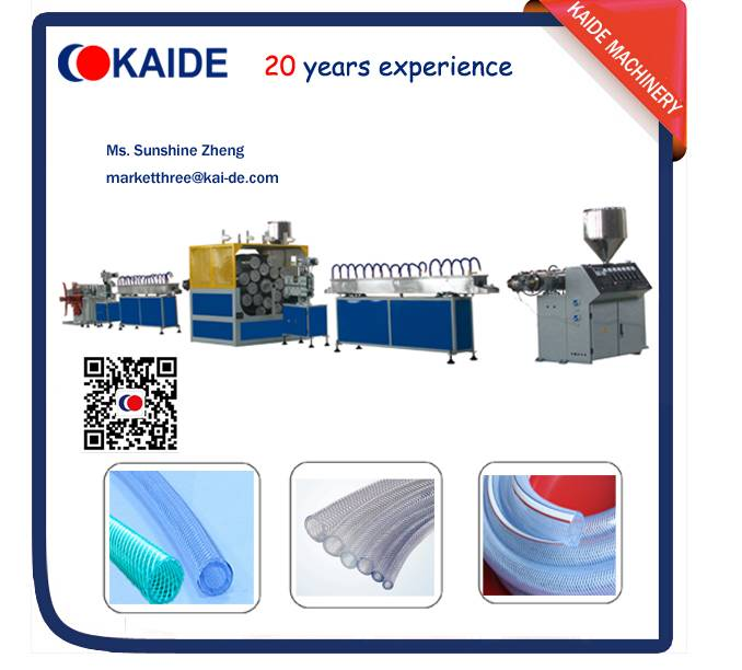 PVC fiber reinforced hose making machine KAIDE