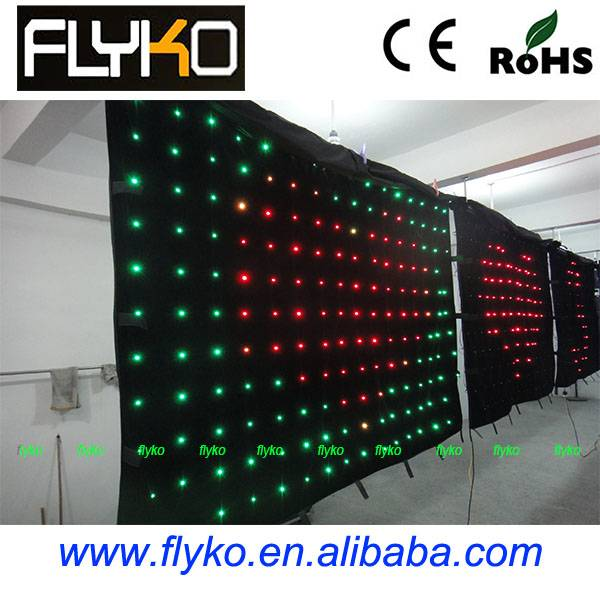 Soft Video Display Curtain (LED Transparent Curtain Screen)