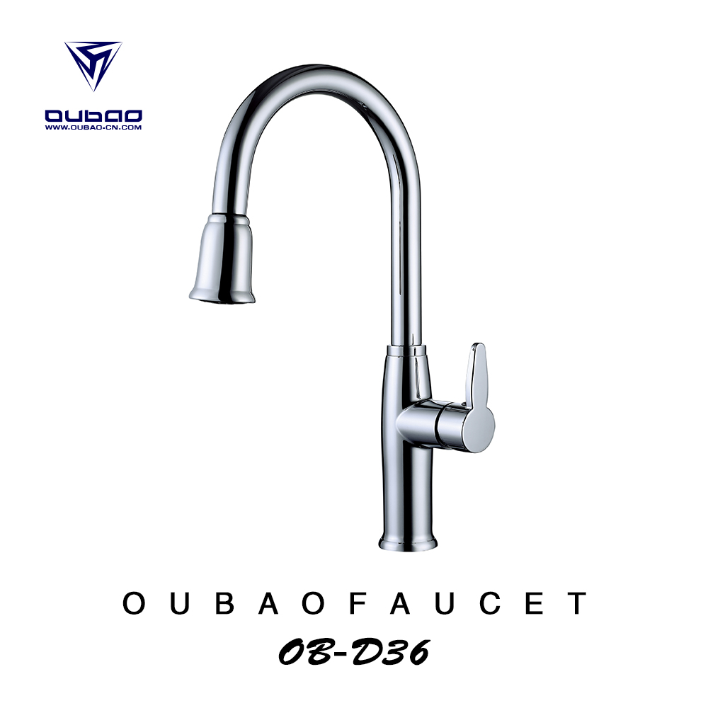 Mordern kitchen water tap curved arch bath faucets rotating kitchen faucet