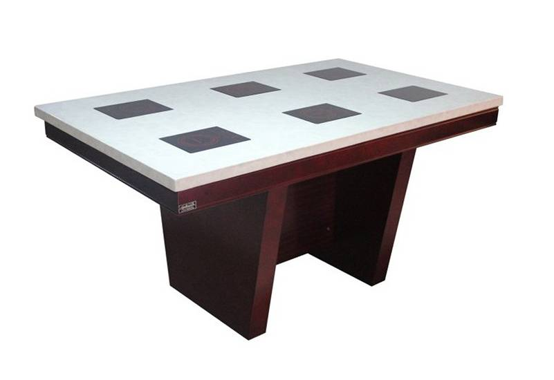 Marble top hotpot table, hotpot restaurant devices, dining table