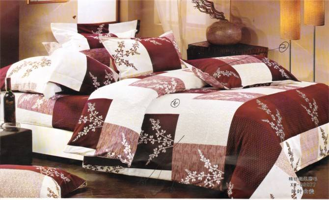 100% polyester printing bedding set
