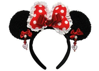 Red Minnie Mouse Ears Headband