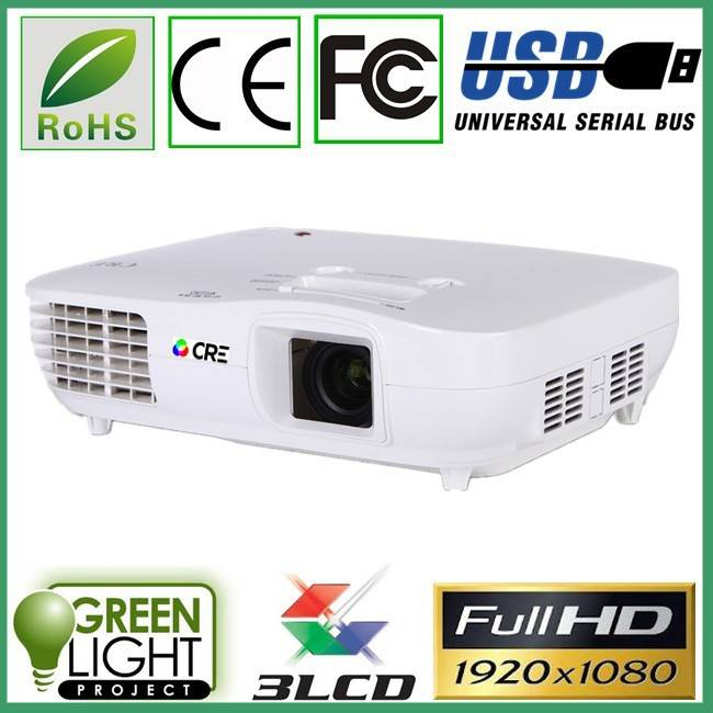 Full HD 1080P 3LED+3LCD projector/ CRE X2000/ business & enducation projector