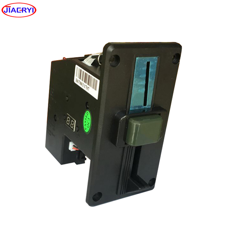 multi coin operated Timer Control Board box with ZINC ALLOY front plate of multi coin acceptor
