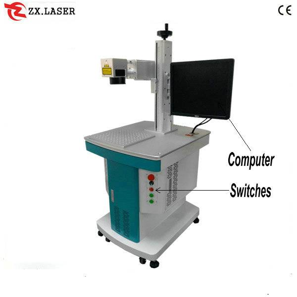 metal sign fiber laser marking machine / laser marking machine price from factory