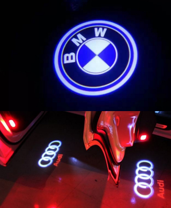 led car logo door light led ghost shadow car logo light led car door logo laser
