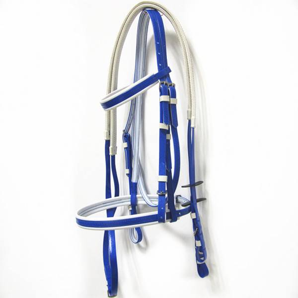 fancy and adjustable pvc horse bridle and rein