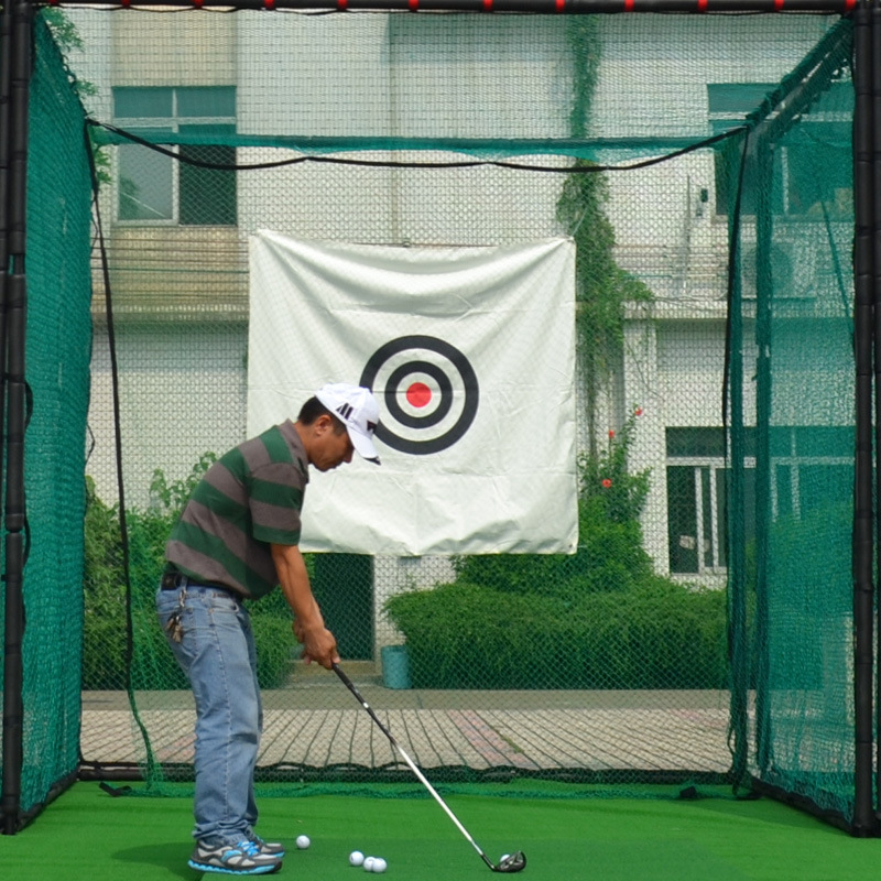 Golf Cage - Home Driving Range Net Practice Your Golf Safely From The Comfort Of Your Backyard