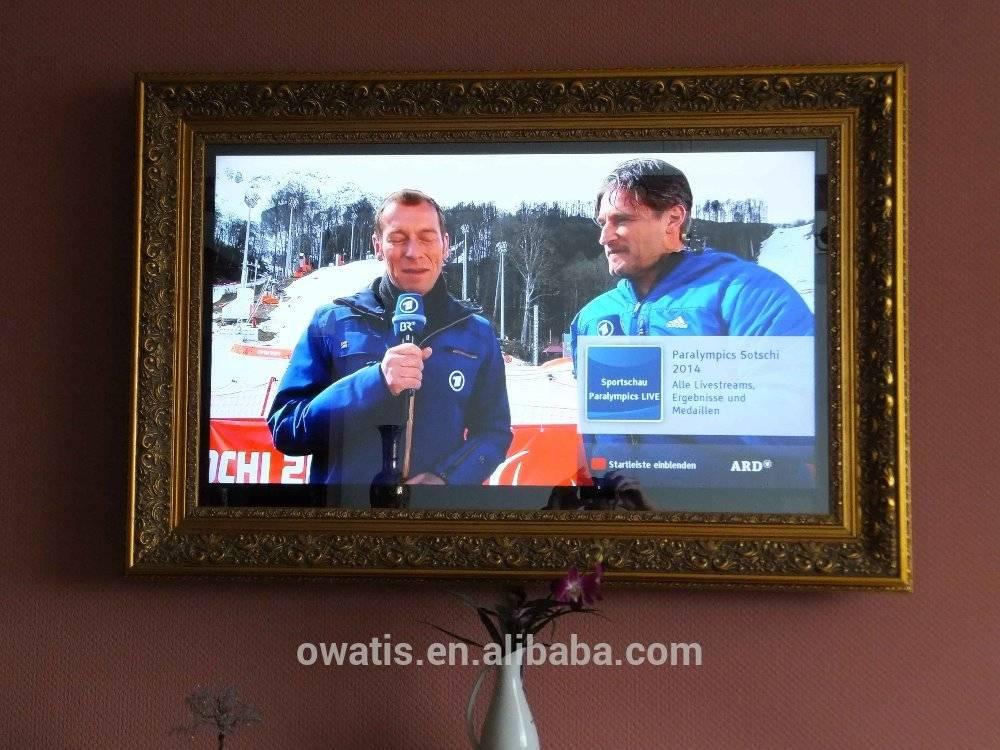 """65"""" Wooden Frame Mirror TV"""