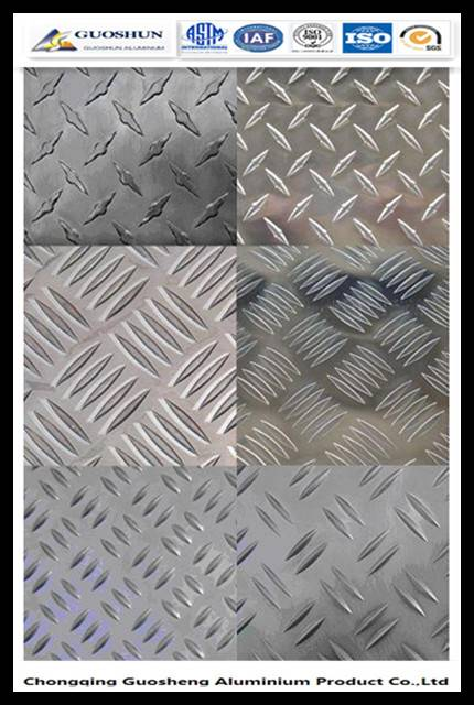 Aluminium Checkered Plate/chequered sheet 1050,1060,1100,3003,3004 etc.