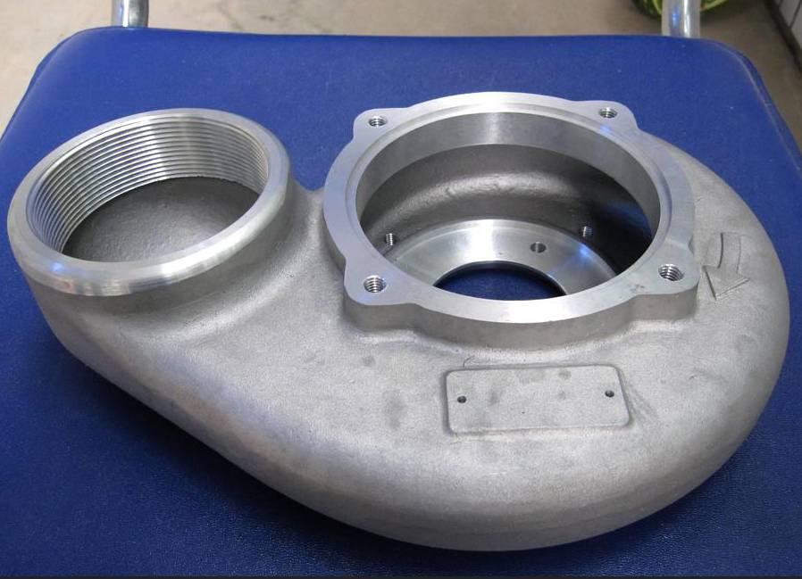 A356 aluninium gravity casting pump housing