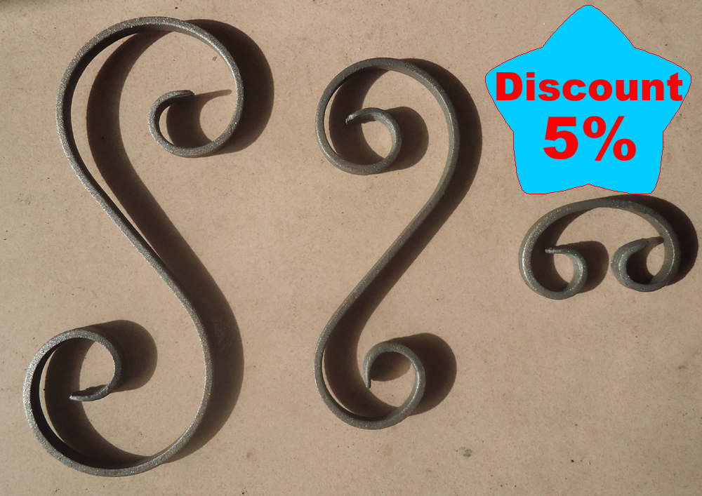 wrought iron scrolls for panel
