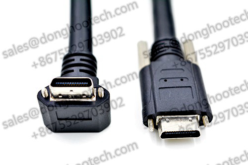 High Performance Camera Link Cable Right Angle UP and DOWN 1 Meters in Restricted Space Applications