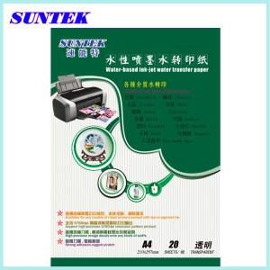 T04 Transparent/Clear Water Transfer Printing Paper for Ceramics