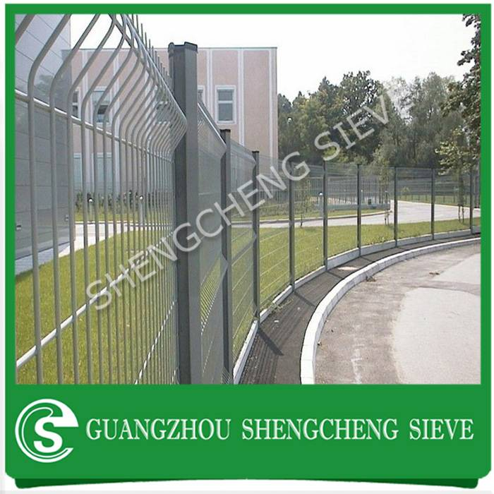 Security boundary fence 3d model powder coated decorative welded wire euro fencing