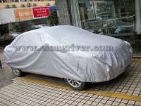 Silver Polyester Car Cover
