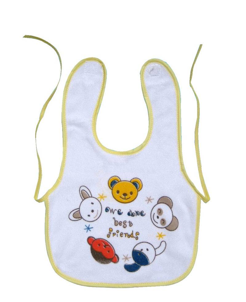 hot selling customized logo specification baby bibs