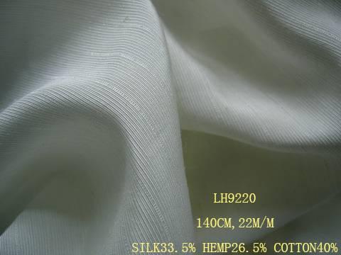 silk/hemp/cotton fabric:LH9220