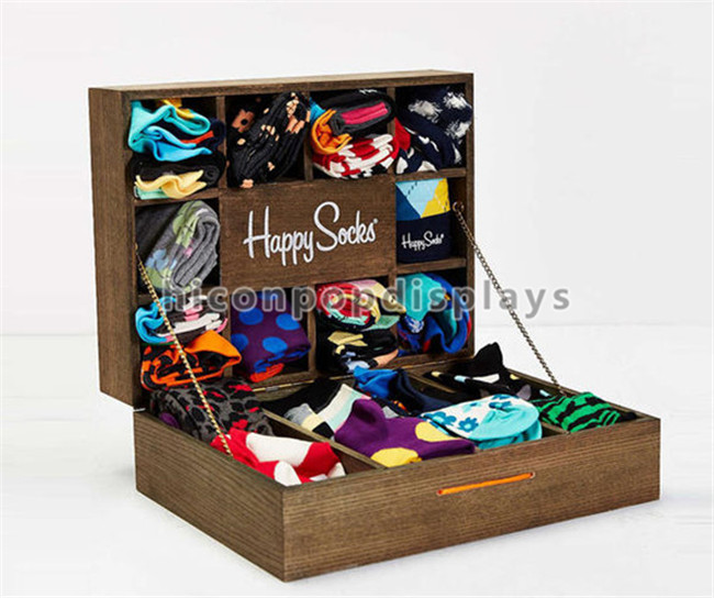 Custom Footwear Products Wholesale Custom MDF Socks Display Case