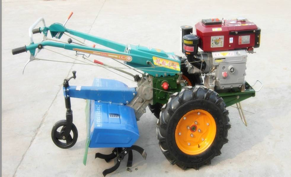 cheap walking tractor with plough