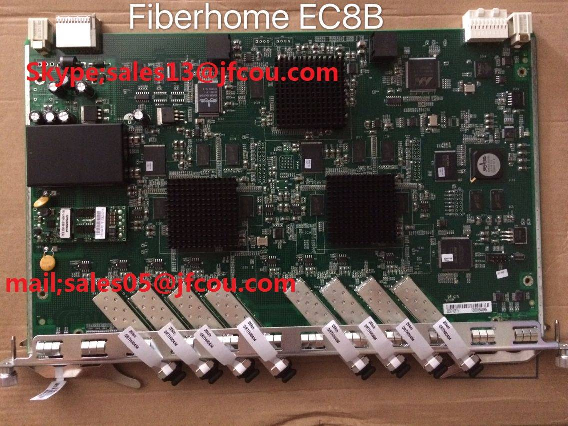 Original Fiberhome 8 ports EPON board for 5516-01 OLT. EC8B card model with 8 SFP modules