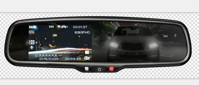 4.3 inch Ambarella system HD utra-high brightness car mirror built-in camera recording Dash Cam DVR