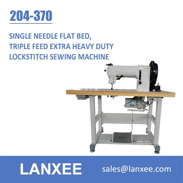 Lanxee 204-370 Durkopp Adler Flat Bed Heavy Duty Sewing Machine