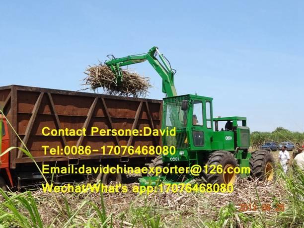 Hot selling 4 wheels sugarcane grabber loader