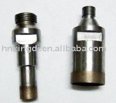 Diamond drill bits for glass
