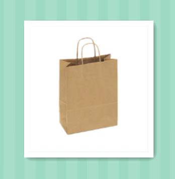 Kraft Recycled Paper Shopping Bags 10 x 5 x13 natural kraft shopper