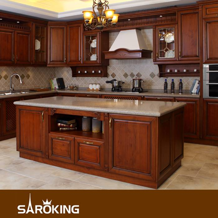 American Style Customized Solid Wood Kitchen Cabinet