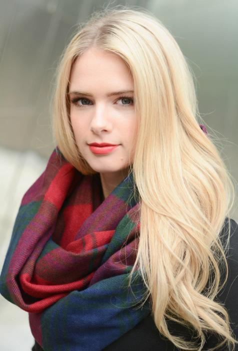High Quality Winter Checked Acrylic Infinity Circle Loop Scarf China Supplier