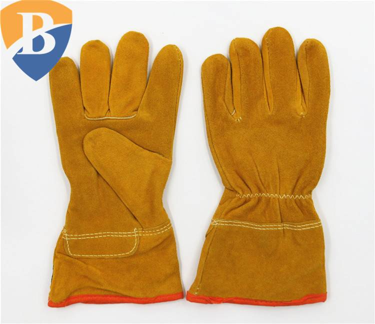 Cow split leather welding glove safety work glove