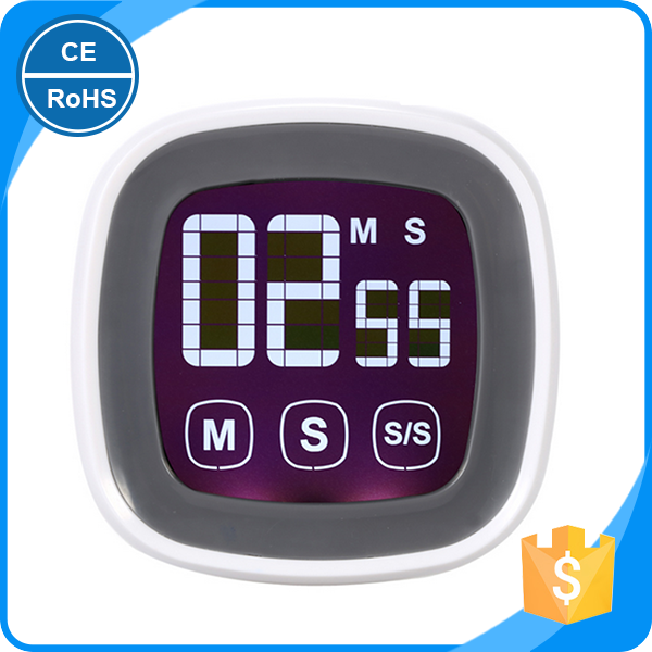 KH-0002 Unique Touch Screen Kitchen Timer Mini Countdown Digital Timer