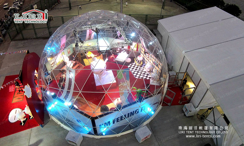 Geodesic Dome Tent for Parties, Sphere Tent with Air Conditioner for Sale