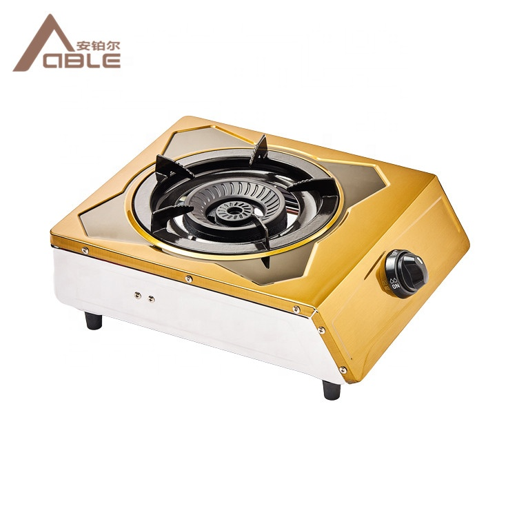 ABLE High End Stainless Steel Single Burner Cooking Gas Stove