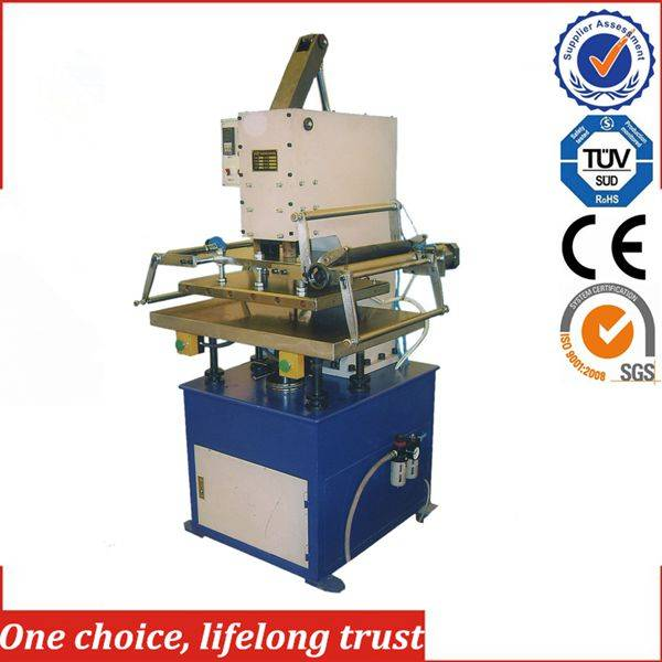 TJ-23 electric hot foil stamping heat press machine for pu leather