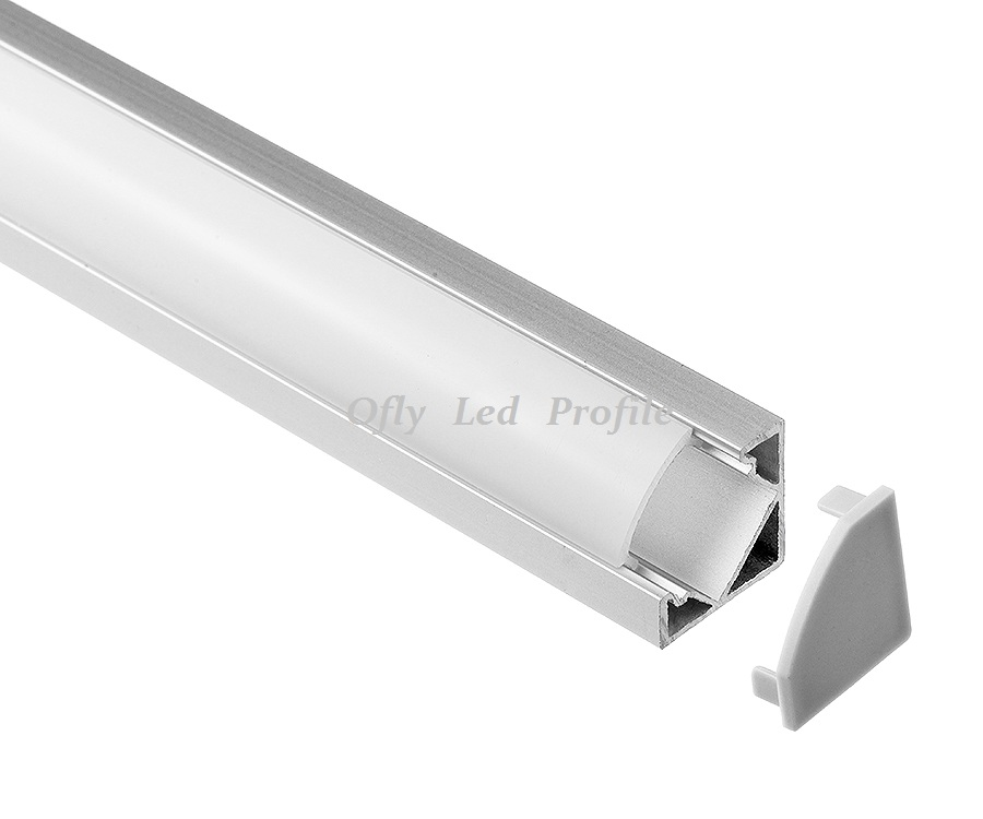 Led aluminium profile 18.1mm x 18.1mm for led strip