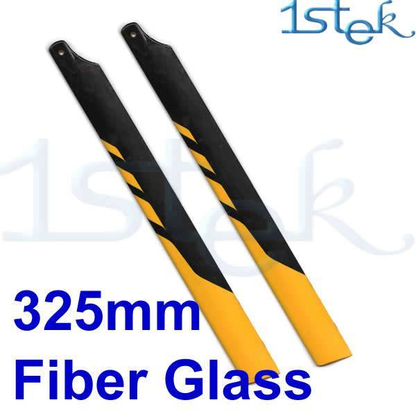 325mm Fiber Glass Main Rotor Blade Yellow and black for Trex450v2 RC Helicopter