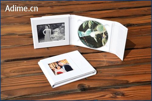 Leather/fabric Wedding CD DVD Album Holder Case