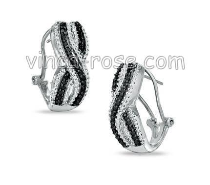 micropave silver earrings, gemstone jewelry, 925 silver jewelry