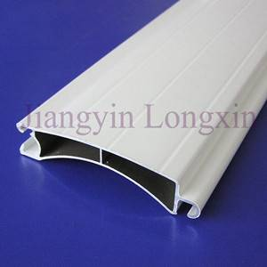 Aluminum roller shutter profile white powder coated