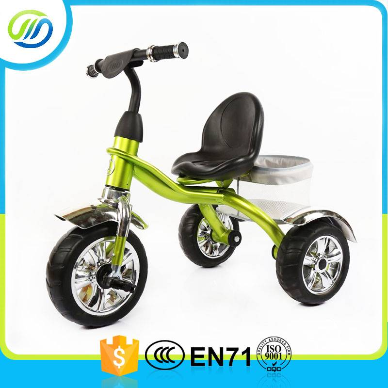 Color painting big tyre metal baby tricycle
