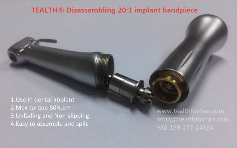 TEALTH® Disassembling 20:1 Reduction implant surgery dental handpiece